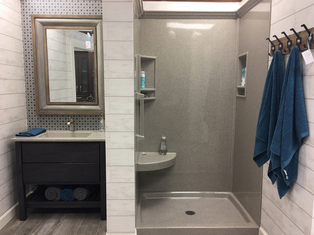 Replace your cabinets or flooring during bathroom renovations